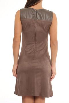 Explosion Faux Suede Fitted Dress - Alternate List Image