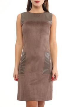 Explosion Faux Suede Fitted Dress - Product List Image
