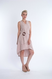 Explosion Taupe Linen Dress - Product Mini Image