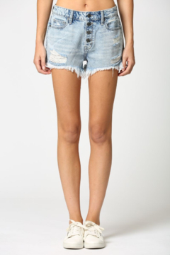 Shoptiques Product: Exposed Button Sofie Mom Short