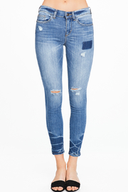MONTREZ EXPOSED STITCH RIPPED SKINNY JEANS - Front full body