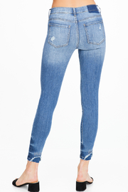 MONTREZ EXPOSED STITCH RIPPED SKINNY JEANS - Back cropped