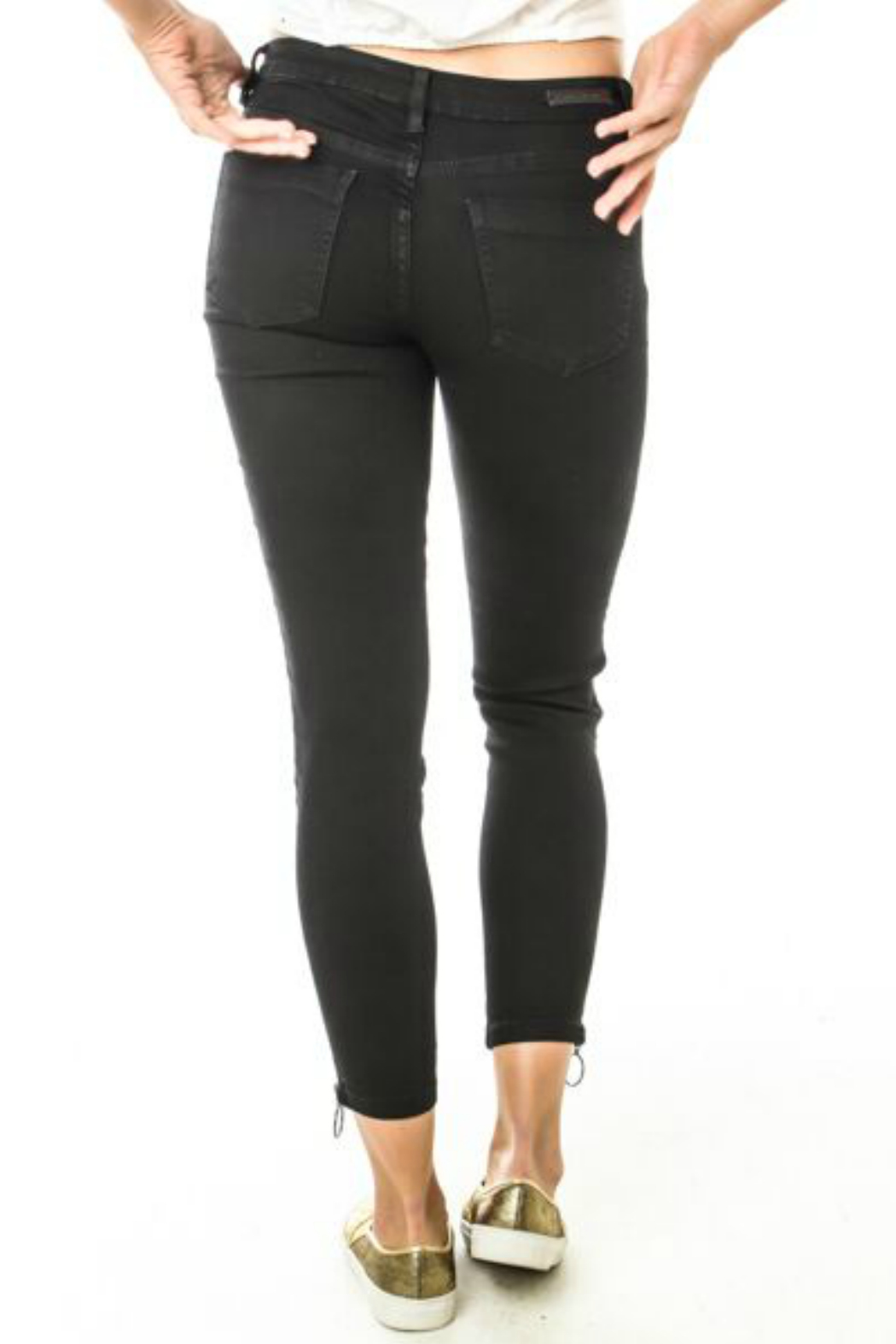Funky Soul Exposed Zipper Jean - Front Full Image