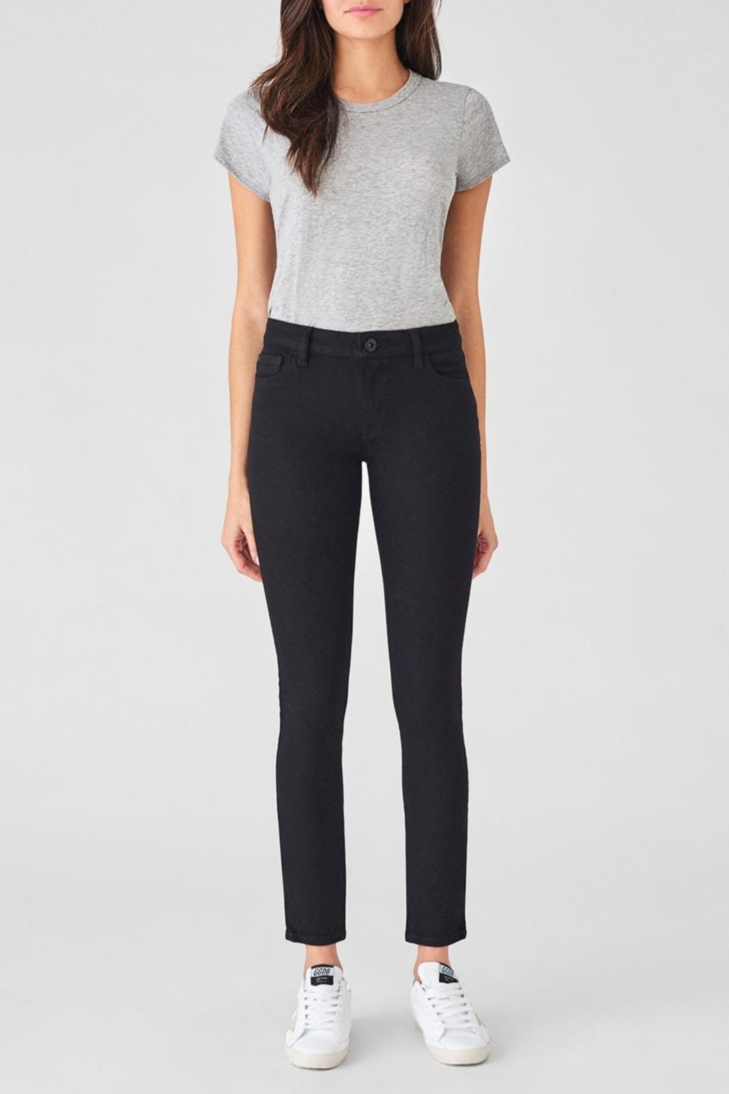 DL1961 Extra-Long Black Skinny - Front Cropped Image