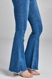 Racine Extreme-Flare Faded Jeans - Product Mini Image