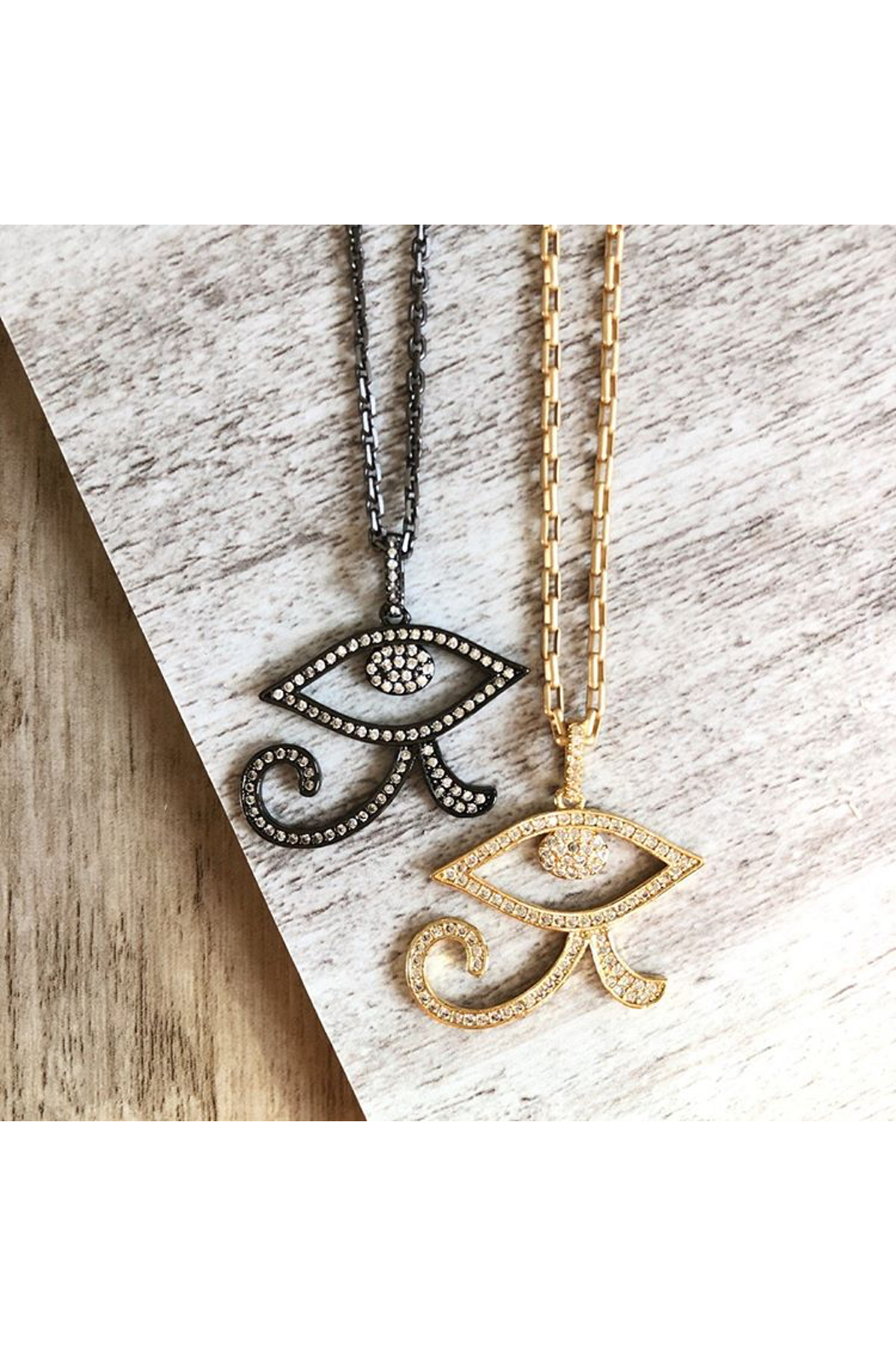 Fabulina Designs Eye of Horus Necklace - Side Cropped Image