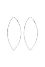 Riah Fashion Eye-Shaped Wire-Hoop Earrings - Product Mini Image