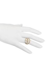 Satya Eye White-Topaz Ring - Front full body