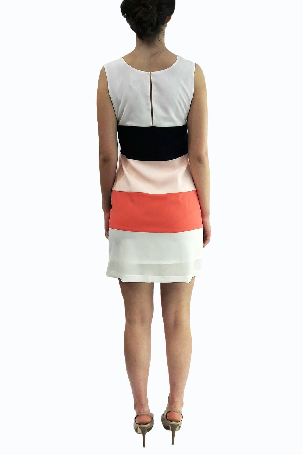 Eyedoll Colorblock Dress - Side Cropped Image