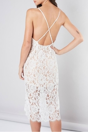 Pretty Little Things Eyelash Lace Dress - Front full body