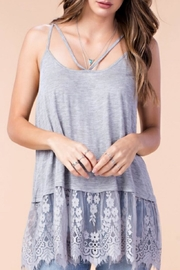 KORI AMERICA Eyelash Lace Tank - Product Mini Image