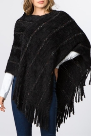 Zazzi Eyelash Stripe Poncho - Product Mini Image