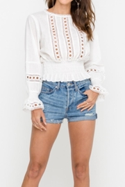 Lush Eyelet Blouse - Product Mini Image