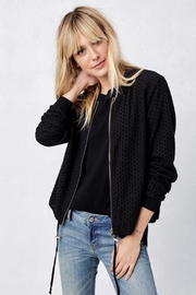 Lovestitch Eyelet Bomber Jacket - Product Mini Image