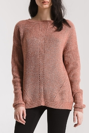 rag poets Eyelet Crew Sweater - Product Mini Image