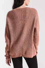 rag poets Eyelet Crew Sweater - Side cropped
