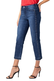 Liverpool Jean Company Eyelet Crop Jeans - Product Mini Image