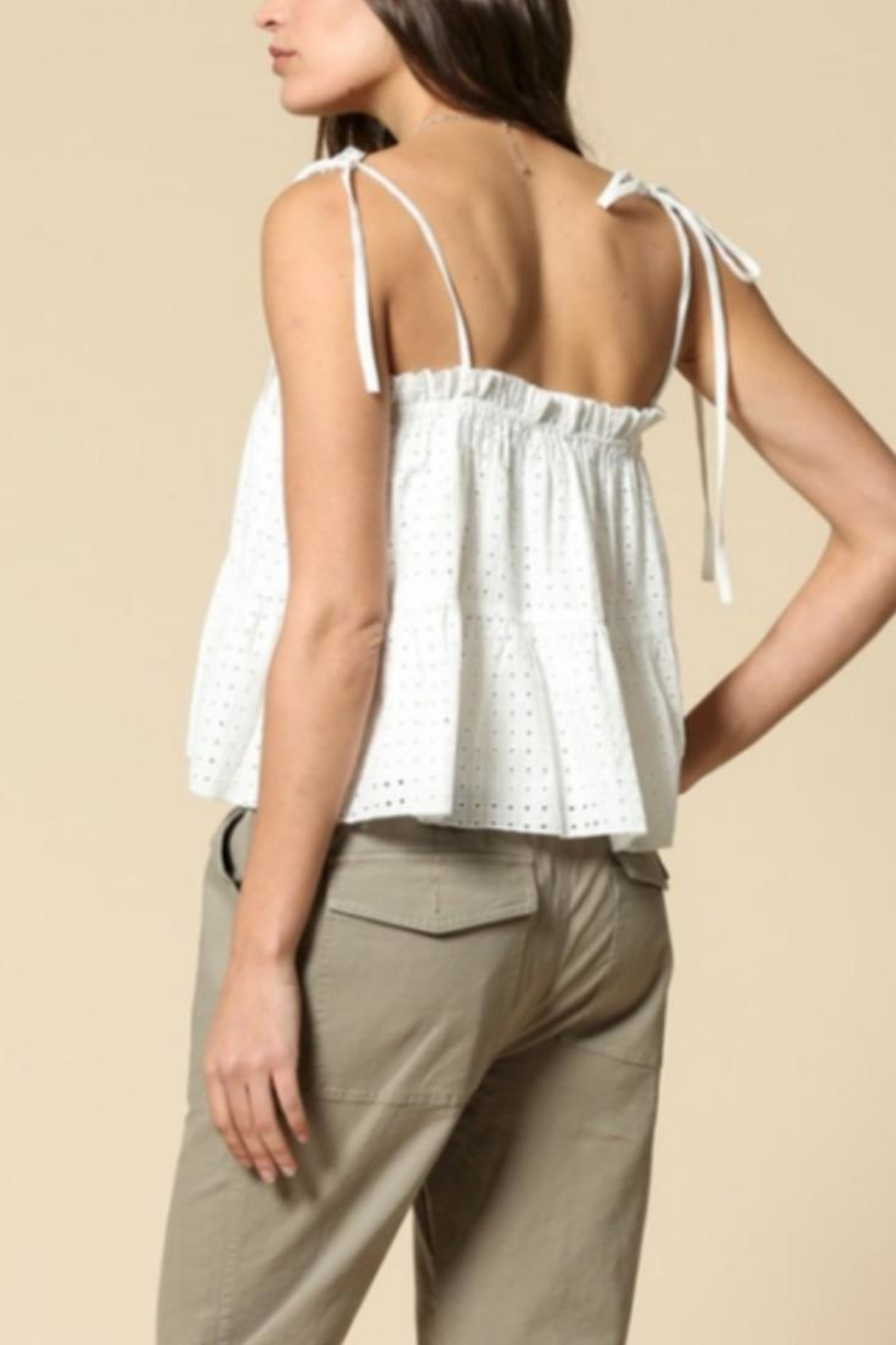 By Together Eyelet Crop Top - Front Full Image