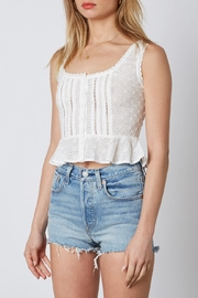 Cotton Candy LA Eyelet Crop Top - Side cropped