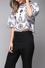 Do & Be Eyelet Crop Top - Back cropped