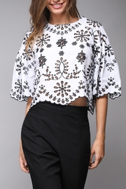Do & Be Eyelet Crop Top - Product Mini Image