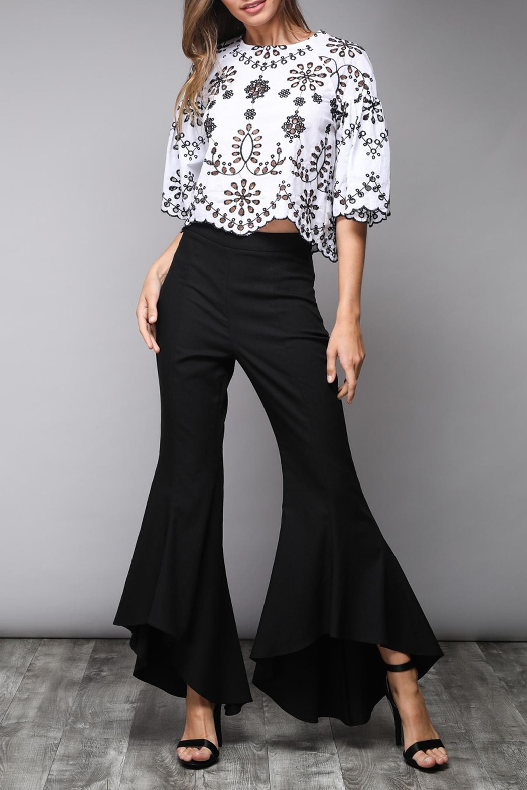 Do & Be Eyelet Crop Top - Front Full Image