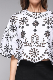 Do & Be Eyelet Crop Top - Side cropped