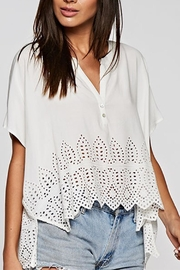 Quarter To Five Eyelet Detail Top - Product Mini Image