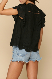 By Together  eyelet detailed Top - Side cropped