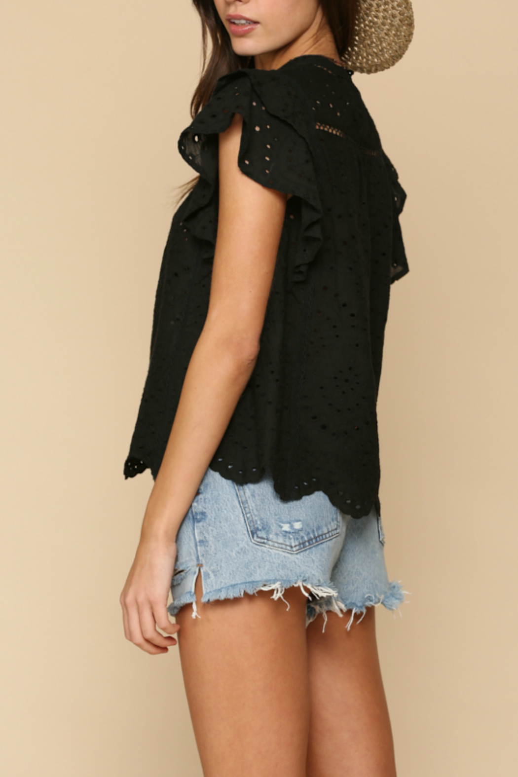 By Together  eyelet detailed Top - Front Full Image