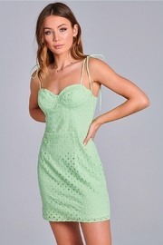 blue blush Eyelet Dress - Product Mini Image