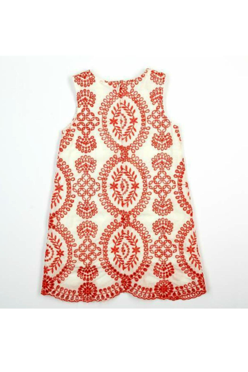 Doe a Dear Eyelet Embroidered Dress - Front Full Image