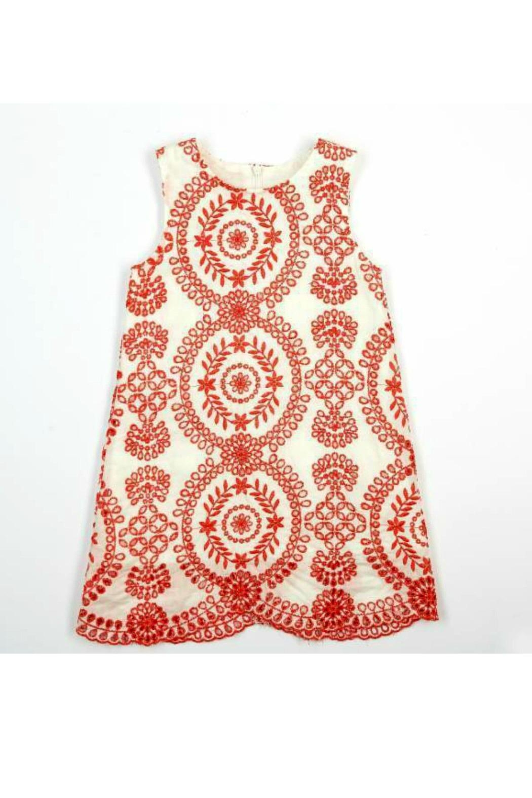 Doe a Dear Eyelet Embroidered Dress - Main Image