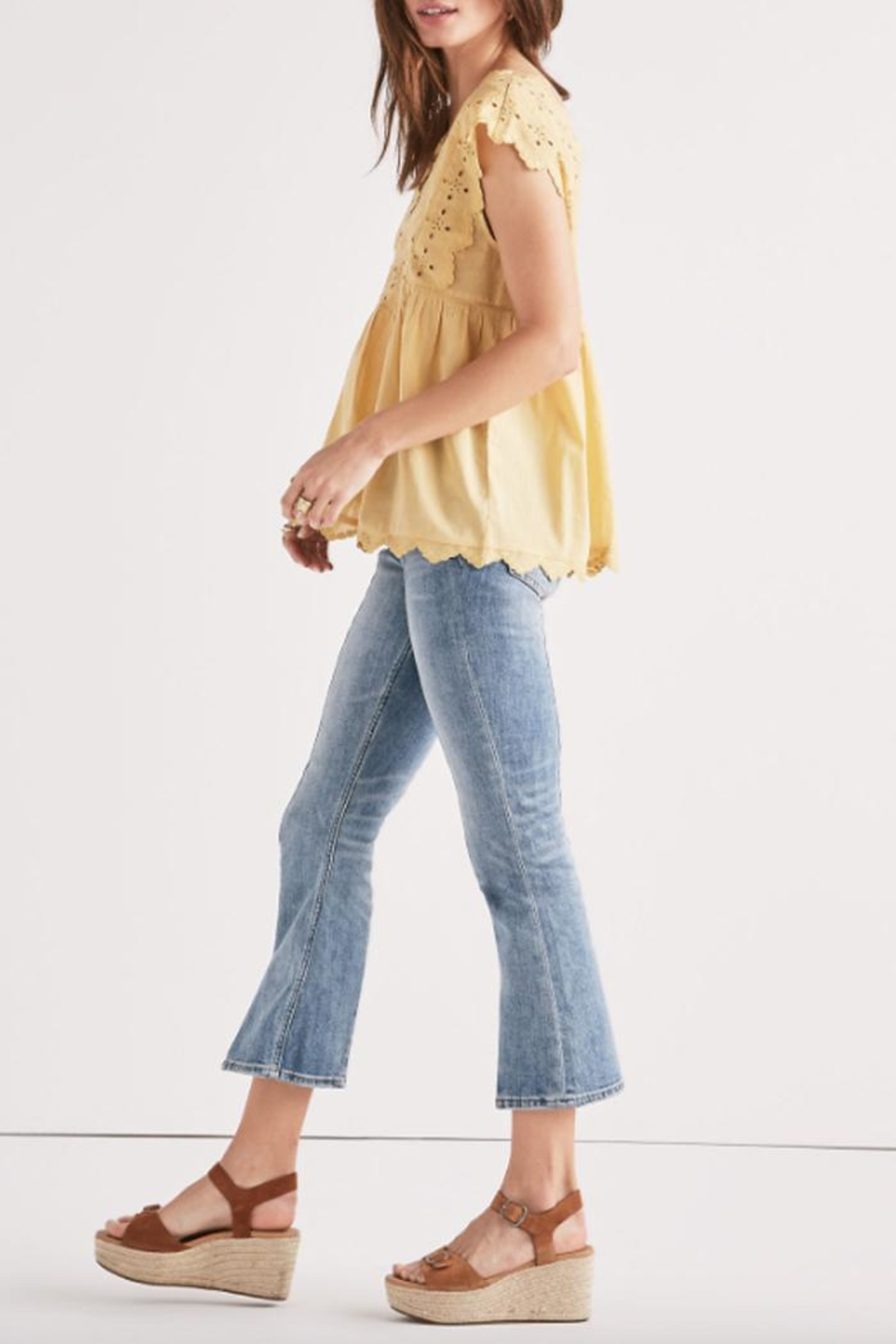 Lucky Brand Eyelet Embroidered Tank - Front Full Image