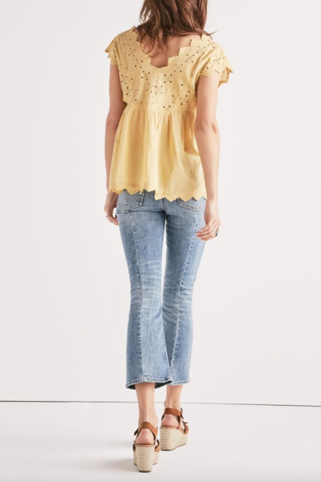 Lucky Brand Eyelet Embroidered Tank - Side Cropped Image