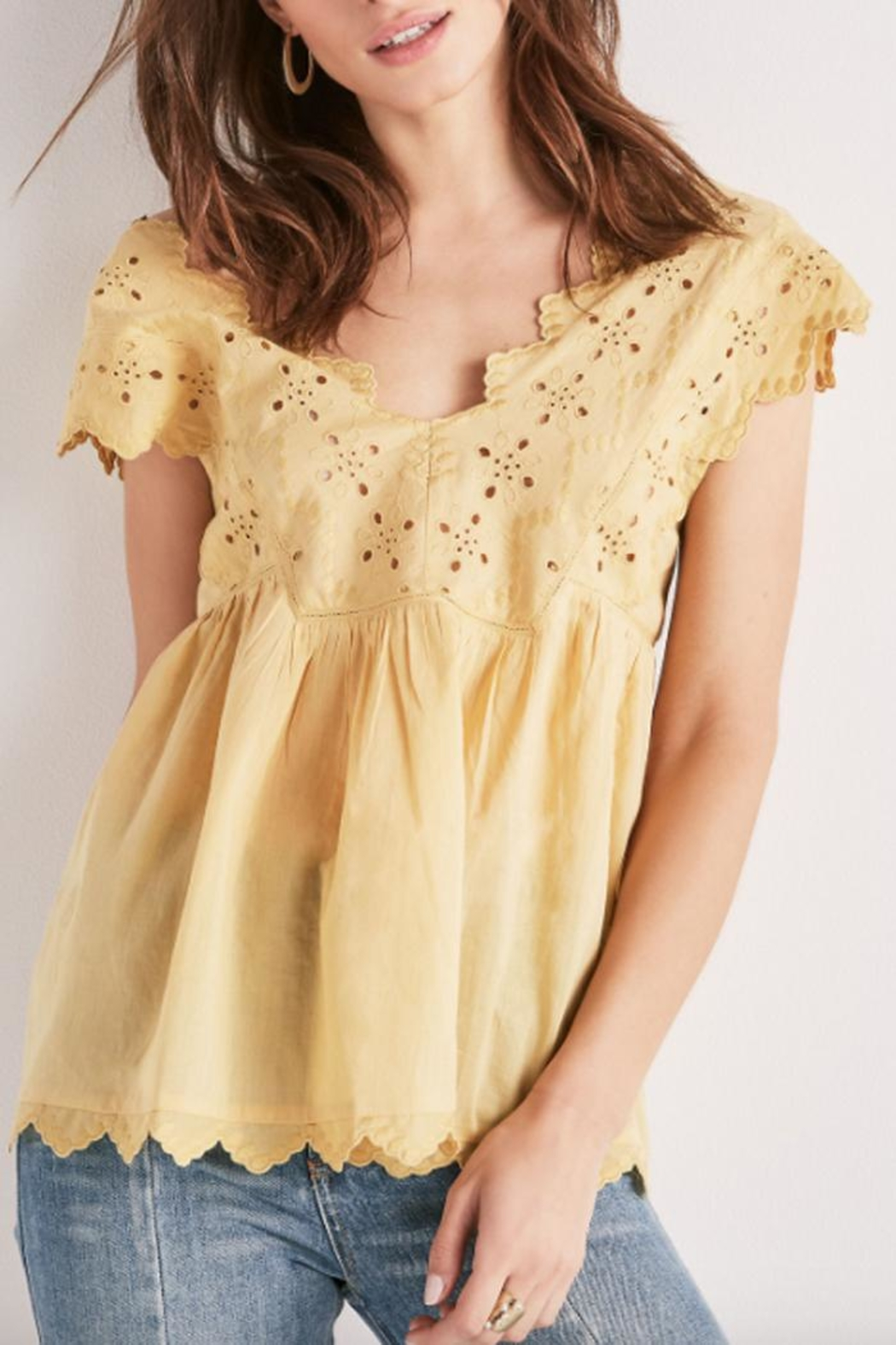 Lucky Brand Eyelet Embroidered Tank - Main Image