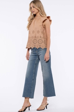 Moon River Eyelet Embroidered Top - Alternate List Image