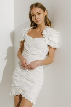 Endless Rose Eyelet Fitted Mini Dress - Product List Image