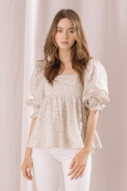 storia Eyelet Floral Top - Product Mini Image