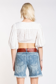 Skylar & Madison Eyelet Knot Front Top - Alternate List Image