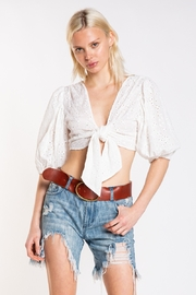Skylar & Madison Eyelet Knot Front Top - Product Mini Image