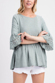 Mittoshop Eyelet lace belle sleeve top - Product Mini Image