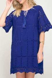 She + Sky Eyelet Lace Dress - Product Mini Image
