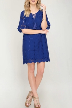 She + Sky Eyelet Lace Dress - Alternate List Image