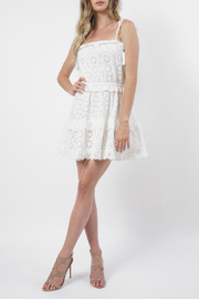 Stellah Eyelet Lace Mini Dress - Product Mini Image