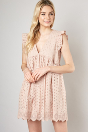 Mustard Seed  Eyelet Lace Romper - Product Mini Image