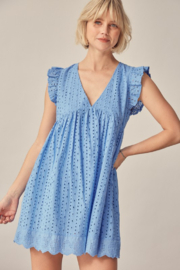 Mustard Seed  Eyelet Lace Romper - Front full body