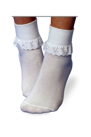 Jefferies Socks Eyelet Lace Socks - Front cropped