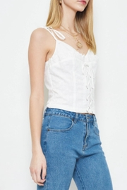 TIMELESS Eyelet Lace Tank - Side cropped