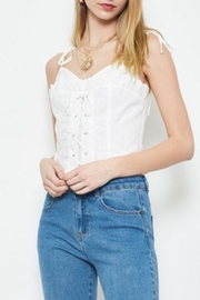 TIMELESS Eyelet Lace Tank - Front full body